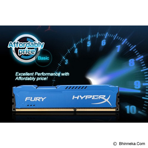 KINGSTON Memory PC 2x 4GB DDR3 PC-15000 [HyperX Fury HX318C10FK2/8] - Memory Desktop Ddr3